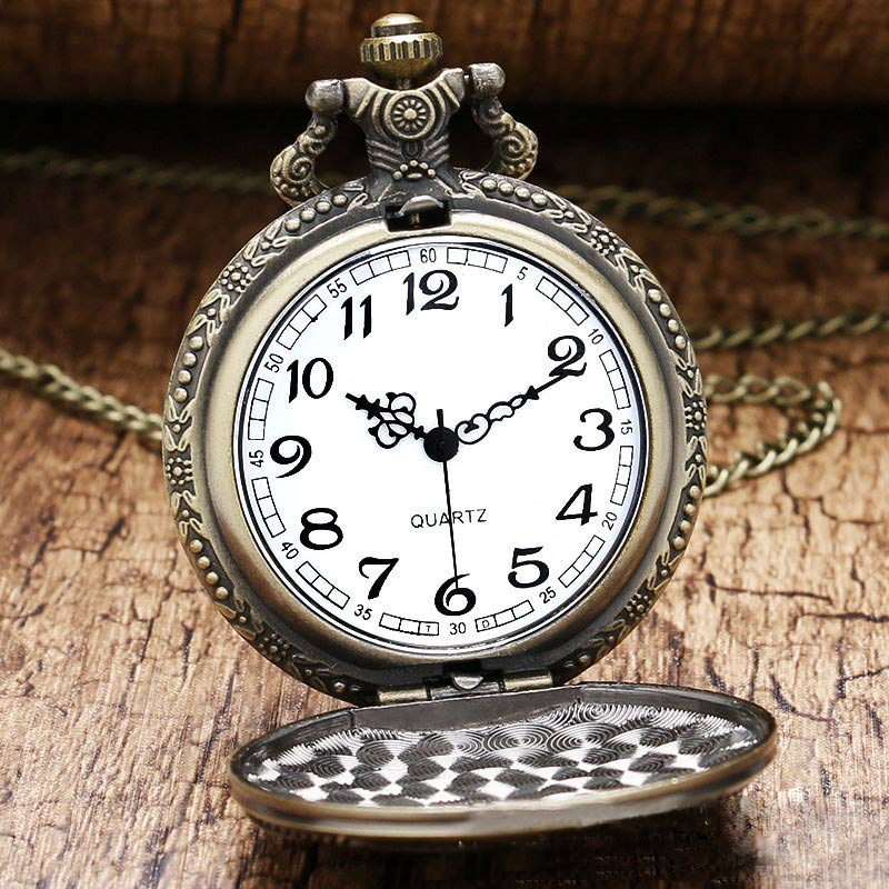 80cm Chain Length Vintage Soviet Sickle Hammer Quartz Pocket Watch Men Women Pendant Chain Fob Watch Gifts LXH