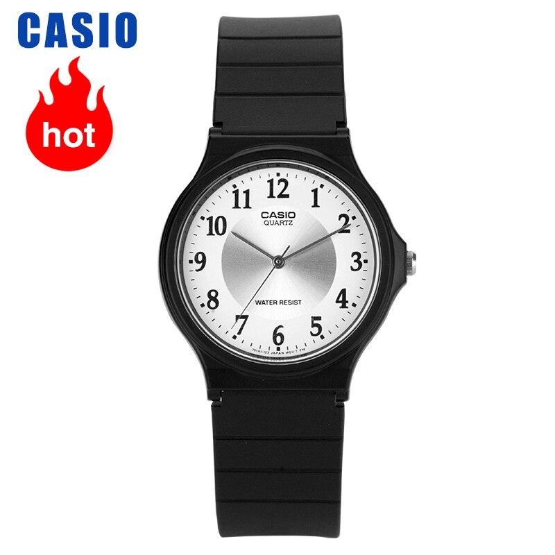 カシオ腕時計小さな黒学生クォーツ男性と女性腕時計 MQ 24 7B3 -