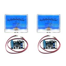 2pcs Classic Lake blue DB Header Level Audio Power Amplifier VU Meter McIntosh figure with 2 pcs TA7318P VU meter Driver Board цена и фото