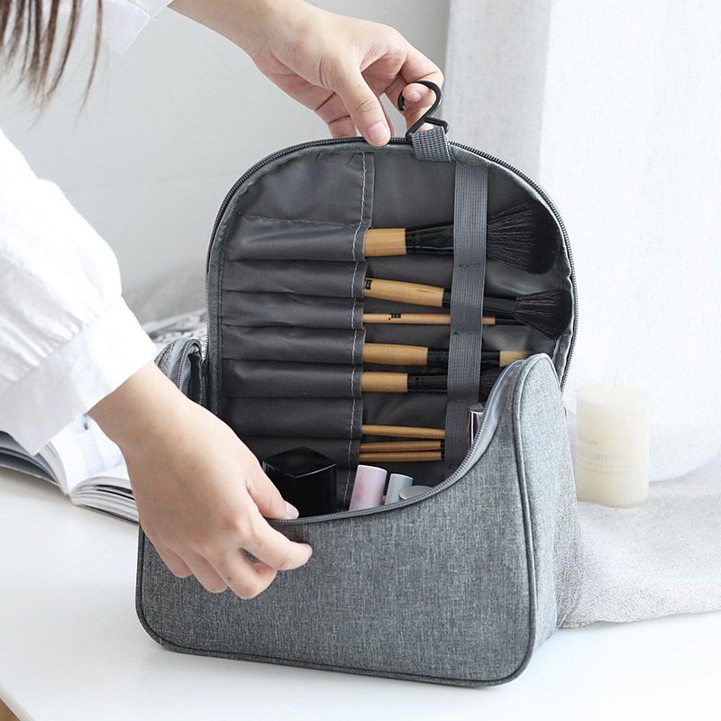 Travel Make Up Bags Hanging Cosmetics Organizer Bag Waterproof Makeup Brush Storage Holder Toiletry Wash Bag Handbag For Women