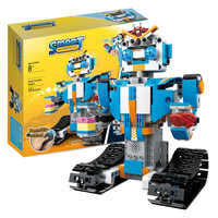 Creativo técnica Robot impulso RC Robot inteligente bloques de construcción Legoing técnica de Control remoto Robot de ladrillos juguetes para niños