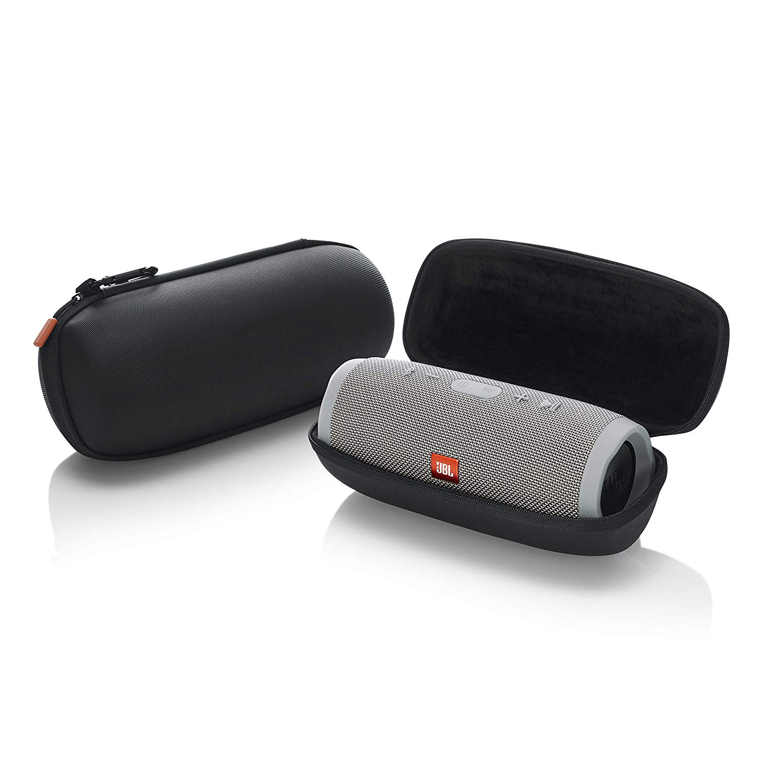 Carry Case Rugged EVA Shell With Weather Resistant Zippered Seal And Carabiner Style Clip For JBL Charge 3 Bluetooth Speaker
