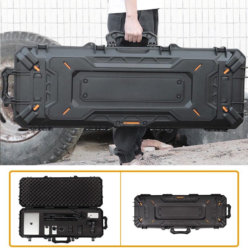 ทหารปืนไรเฟิลยุทธวิธีป้องกันกล่องกันน้ำขนาดใหญ่Airsoftการล่าสัตว์แบบพกพาปืนพกสำหรับกล้องปื...
