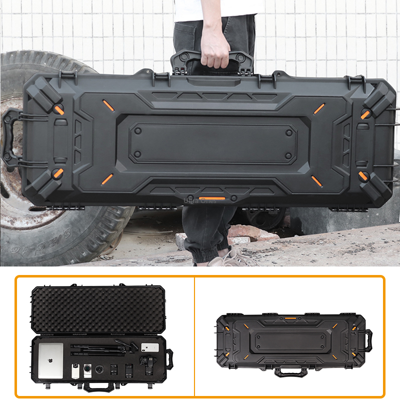 군사 전술 소총 보호 상자 방수 큰 Airsoft 슈팅 사냥 휴대용 권총 하드 케이스 카메라 총 스토리지