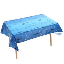 Shark Theme Disposable Tablecloth Shark Birthday