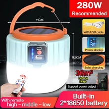 Solar LED Camping Light USB Rechargeable Bulb For Outdoor Tent Lamp Portable 300W Lanterns Emergency Lights For BBQ Hiking cheap POCKETMAN CN(Origin) Solar Camping Light Lithium Metal LED Bulbs Portable Lanterns Rechargeable Battery camping hiking Accept
