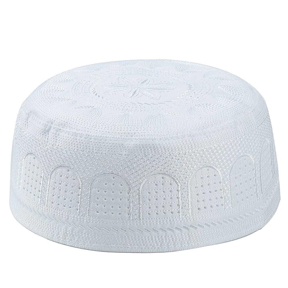 อาหรับมุสลิมหมวกสำหรับชายเย็บปักถักร้อยสวดมนต์หมวกมุสลิมอิสลามอธิษฐานหมวกอาหรับตุรกีหมวก Hijab หมวกสำหรับ Man