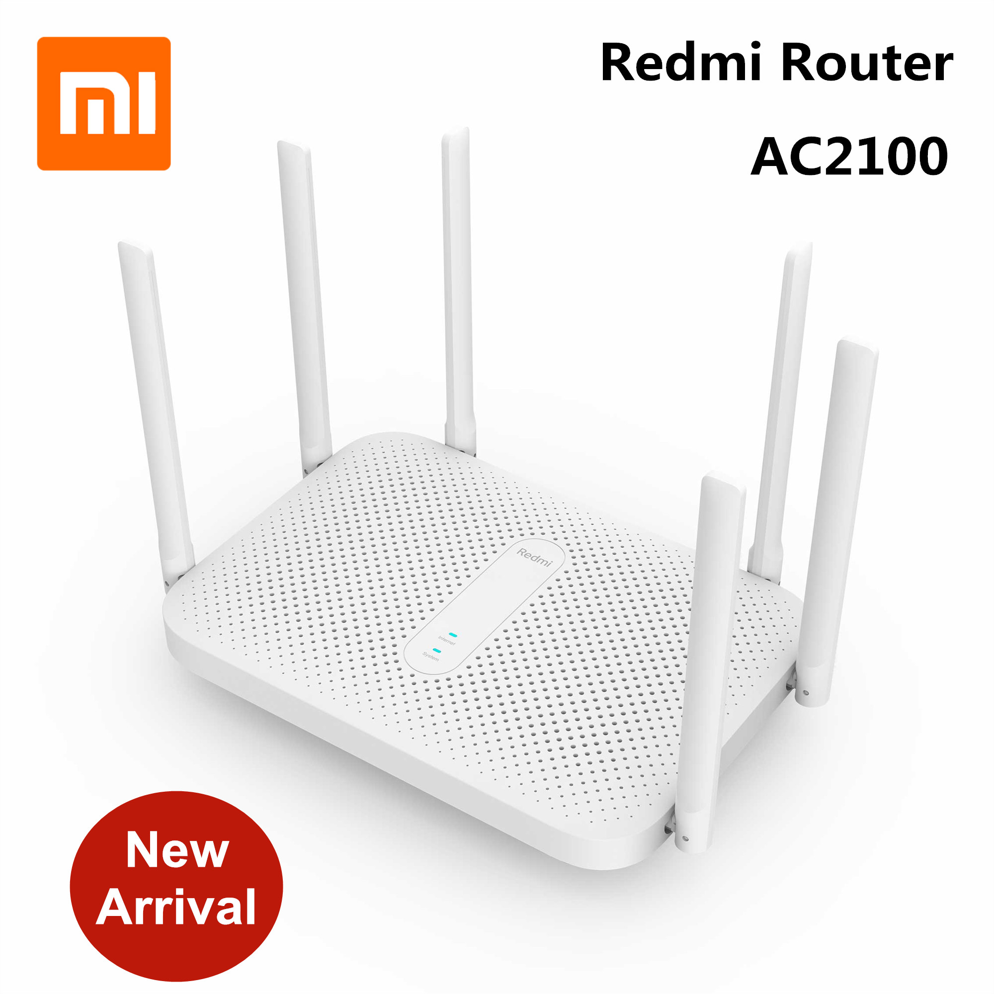 Original Xiaomi Redmi Router AC2100 2.4G 5.0GHz 128MB RAM 2033Mbps Wireless Router Wifi Repeater With 6 High Gain Antennas Wider(China)