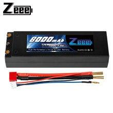 Zeee – batterie Lipo 2S 7.4V, 100c, 8000mAh, avec prise Dean T, 4mm, pour voiture RC, modèle bateau, camion
