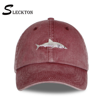 цена на SLECKTON Fashion Baseball Cap for Women Snapback Cap Casual Ponytail Hat Men's Sports Cotton Hats Summer Visor Shark Embroidered