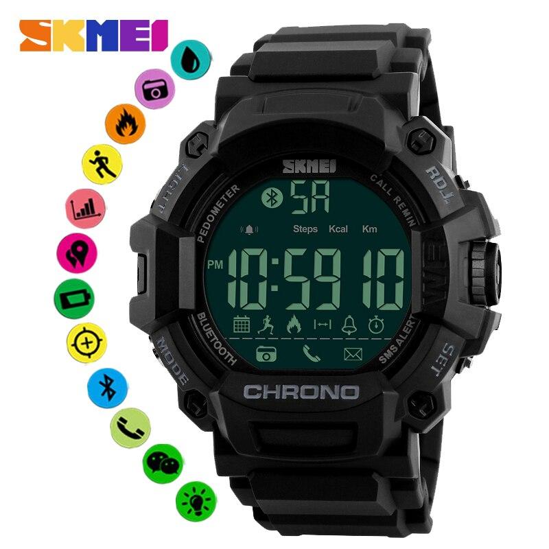 SKMEI 1249 Smartwatch étanche montre intelligente Calories rappel d'appel Bluetooth montres Reloj intelligent pour Android IOS