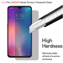 9H Privacy Tempered Glass For UMIDIGI X S3 A5 Pro F1 PLAY Screen Protector For UMI F1 F2 One Max Power Anti Spy Protective Film(China)