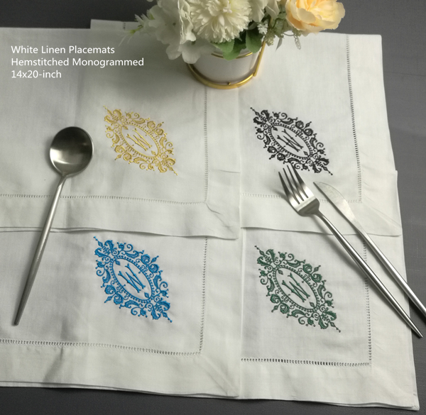 Set Of 12 Fashion Monogrammed Placemats 14