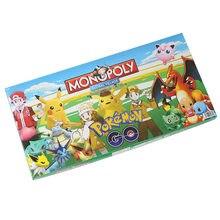Tomy-Juego de mesa de Pokemon Monopoly, juego de cartas de mesa en inglés, para toda la familia, regalo de Navidad