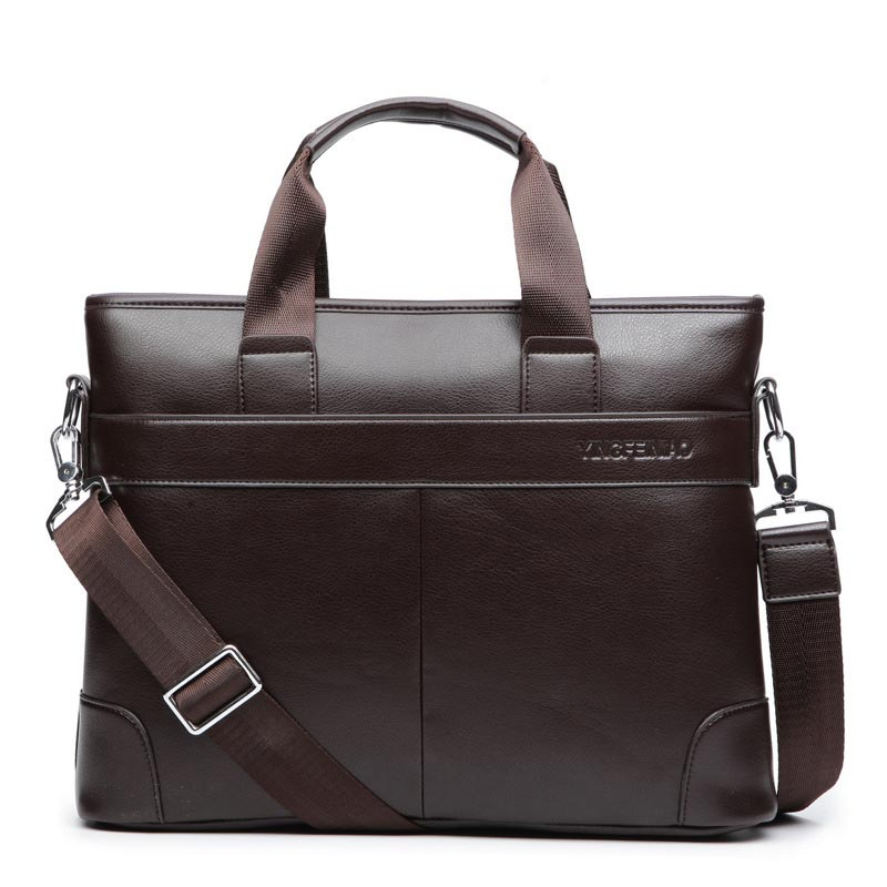 Men's Shoulder Bag Men Briefcase Pu Leather Business Casual Tote Bags Vintage Travel Laptop Handbag Men's Messenger Large Bags