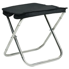 ABSF Outdoor Stainless Steel Hand Bag Folding Stool Portable Folding Chair Camping Chair Hiking Fishing Stool