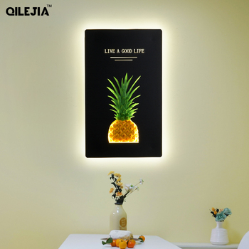 Pineapple wall lamp creative personality bedside bedroom decoration simple Nordic living room wall lamp