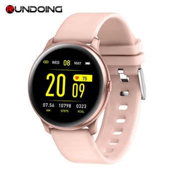 RUNDOING KW19 Women Smart watch Waterproof Blood oxygen Heart rate monitor Men sport smartwatch for IOS and Android - DISCOUNT ITEM  32% OFF All Category