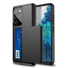 Odporny na wstrząsy etui na karty do Samsung Galaxy S20 FE S21 S30 uwaga 20 Ultra 10 9 8 S10 5G S9 S8 Plus S7 krawędzi S20 + S21 + skrzynki pokrywa