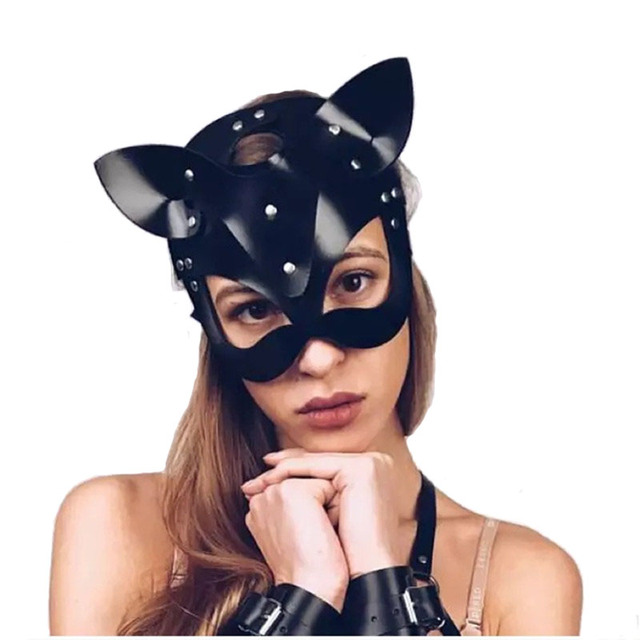 סקס צעצועים ארוטיים אישה מסכת אשת חתול חצי מסכת bdsm המפלגה קוספליי סקסי תלבושות עבדים אבזרי לטקס SM מסכת למבוגרים לשחק מסכות
