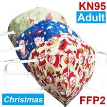 Máscara facial de natal kn95 adulto ffp2 máscara protetora boca caps mascarillas kn95 máscaras ffp2 máscaras de boca filtro kn95masque