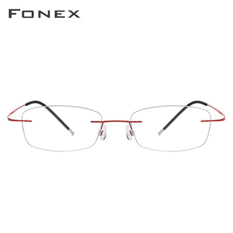 Fonex armação de óculos feminina, armação para óculos de grau feminina, para miopia, quadrado, ultraleve