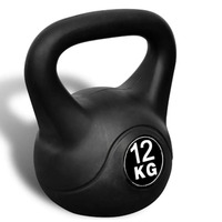 vidaXL 12kg Kettlebell Dumbbell Body Building Kettle Bell Home Exercise Fitness Equipment