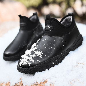 Image 5 - Men Winter Warm Plush Outdoor Sneakers Fashion Ankle Boots Waterproof Sneakers Boots Non slip Men Winter Leather Snow Boots Shoe