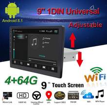 """"" ""Mobil Multimedia Player 1Din/2Din Stereo untuk Android 8.1 dengan Naik Turun Layar Adjustable WIFI Bluetooth GPS NAV Radio Player(China)"