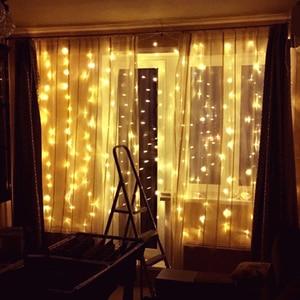 Image 5 - AIFENG светодиодная штора 3 м x 1,5 м, 3 м x 2 м, 3 м x 3 м, гирлянда из 144 светодиодов, 192 светодиодов, 300 светодиодов на Рождество, свадьбу, вечеринку, праздничное освещение