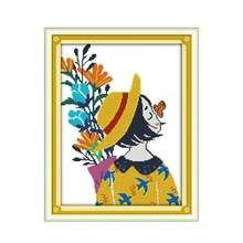 Цветы ароматные радость воскресенье Счетный набор вышивки крестиком