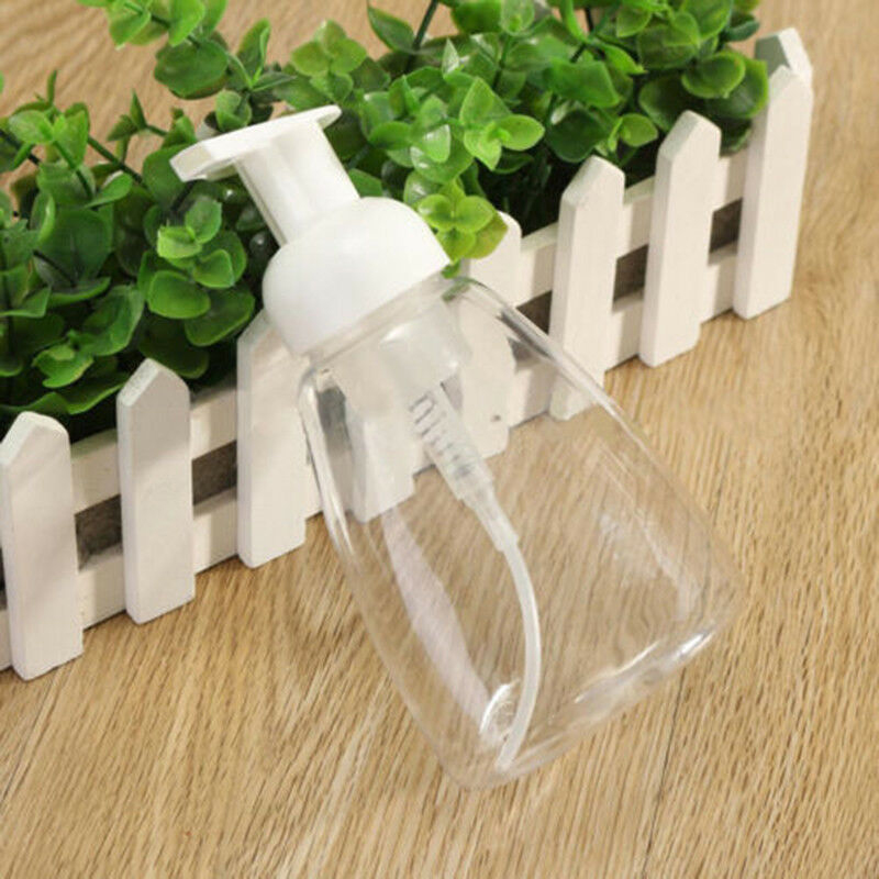 6pcs/Set 300ml Bathroom Clear Foam Liquid Soap Pump Dispenser Cleanser Bottles