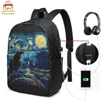 Van Gogh Starry Night Backpack Van Gogh Starry Night Backpacks Men - Women Teenage Bag High quality Bags светильник nowodvorski van gogh led n9351