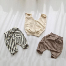 2020 Spring Baby Girls Kids Pants Stripe Casual PP Trousers Infants Children Clothes Wear Princess Long Pant