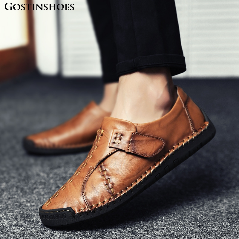Casual Leather Shoes Cowhide Men Loafers Fashion Shoes Men Moccasins Men Casual Shoes