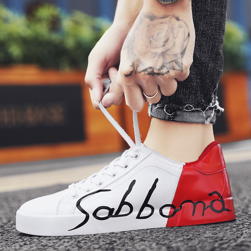 Couples Shoes Sneakers Men Korean Version Off The Trend Of Couples A Male And Female Students Casual Wild Net Red White Shoes