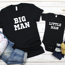 цена Big Man Little Man Shirt Father Son Matching Tshirts 2020 Father Day Family Matching Clothes 2020 Summer Fashion Letter Top онлайн в 2017 году