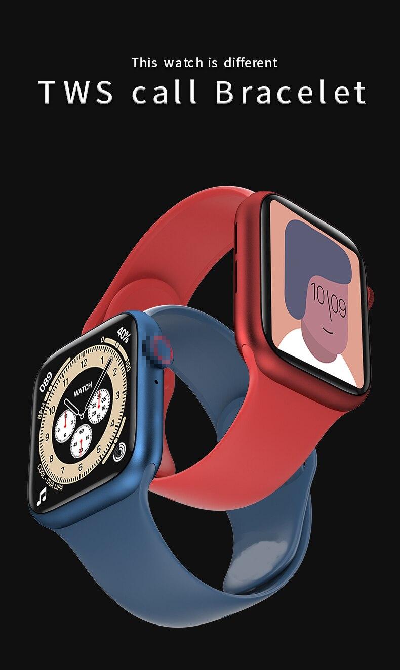 Chamada bluetooth relógio inteligente w98 temperatura ecg
