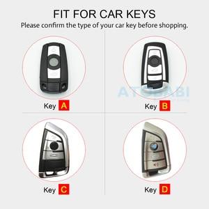 Image 2 - Leather Car Key Case For BMW E90 E60 E70 E87 1 3 5 6 Series M3 M5 X1 X5 X6 Z4 Keychain Holder Protector Cover Bag Auto Accessory