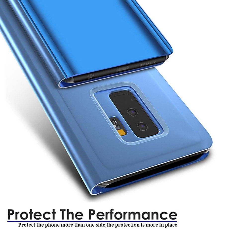 Смарт mi rror флип чехол для Xiao mi Red mi Note 8 7 K20 5 6 Pro 4X5 Plus 5A 8A 7A S2 кожаный чехол для mi 9 9T Pro 8 SE A1 A2 чехол