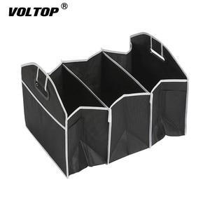 Image 2 - Auto Rücksitz Organizer Multi Tasche Lagerung Tasche Große Kapazität Klapp Auto Stamm Verstauen Aufräumen Zubehör