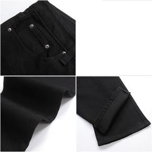 Image 5 - Free Shipping Male bell bottom denim trousers slim black horn Boot Cut jeans mens clothing casual Business Flares trousers 36