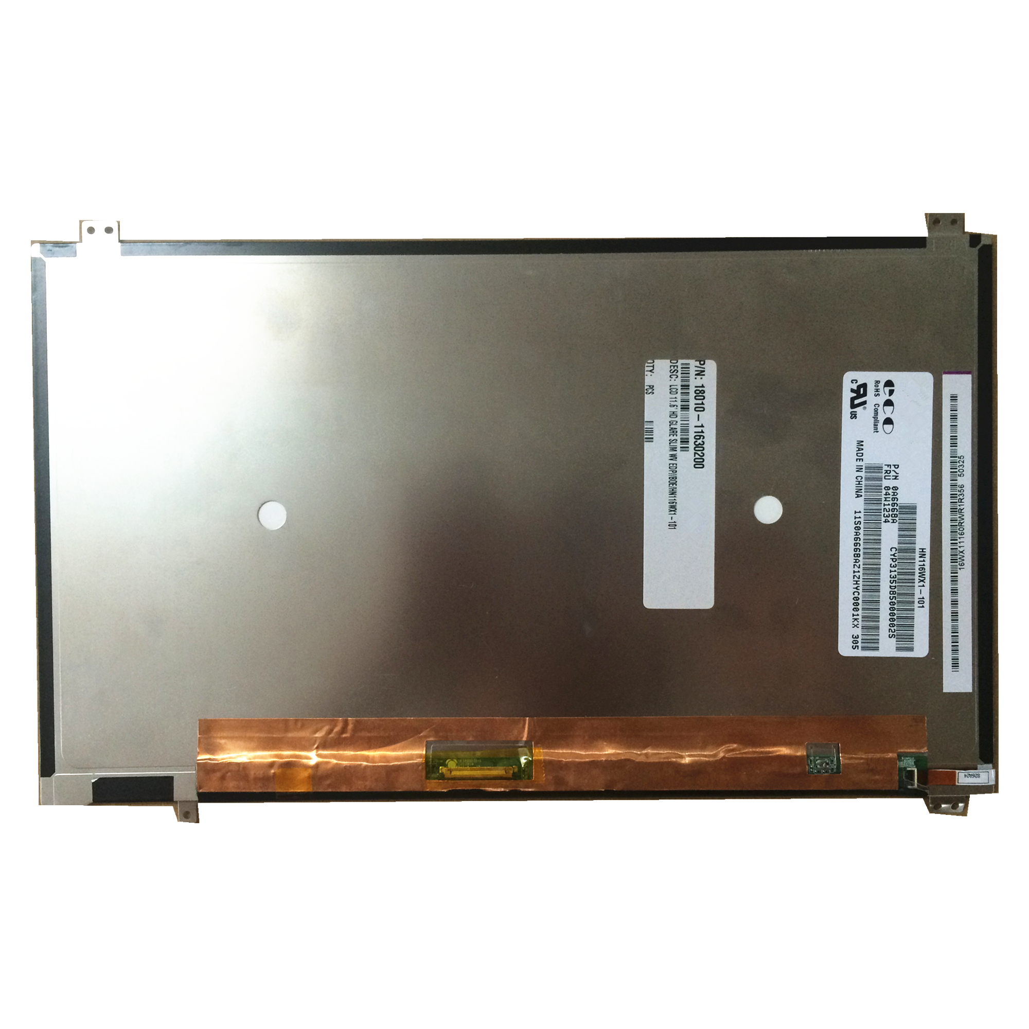 Livraison gratuite 11.6 pouces tablette PC TFT LCD écran HN116WX1-101 WXGA 1366 (RGB) * 768 avec 30 broches