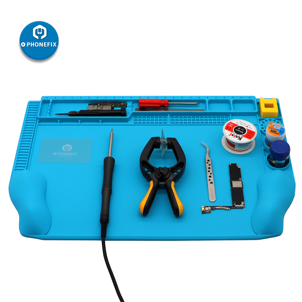 Heat Insulation Silicone Soldering Mat Heat-resistant Soldering Station Repair Insulator Pad  Woking Mat Maintenance Platform