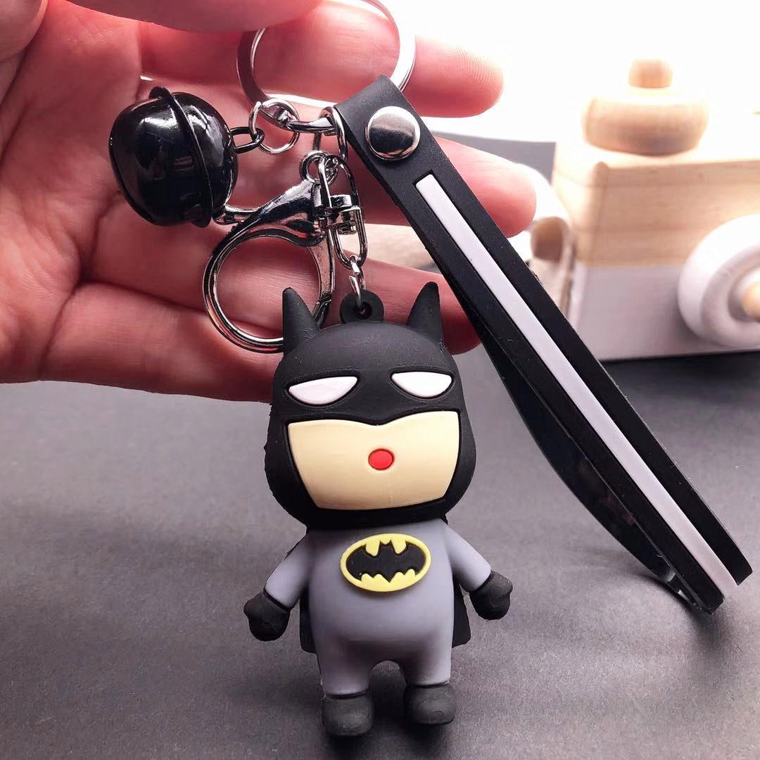 DC комикс Бэтмен Аниме экшн-фигурка брелок игрушки Лига Справедливости 3D Брелки Бэтмен Фигурка кукла игрушка Подарки