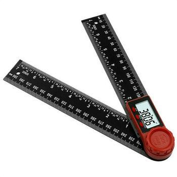 Kątomierz cyfrowy kątomierz linijka 360 stopni wyświetlacz LCD miernik nachylenia narzędzia pomiarowe GK99 tanie i dobre opinie FangNymph
