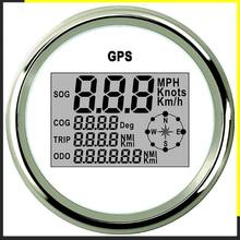 Digitale Tachimetro Auto GPS Contachilometri 85 millimetri 0 999 nodi km/h mph 12 V/24 V con Retroilluminazione Yacht Nave Moto Barca Auto