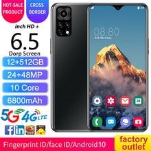 2021 Smartphone M11pro5G LET 6.5 12GB+512GB Android Smartphones Fingerprint Unlock MTK6889 10-Core Mobile Phone