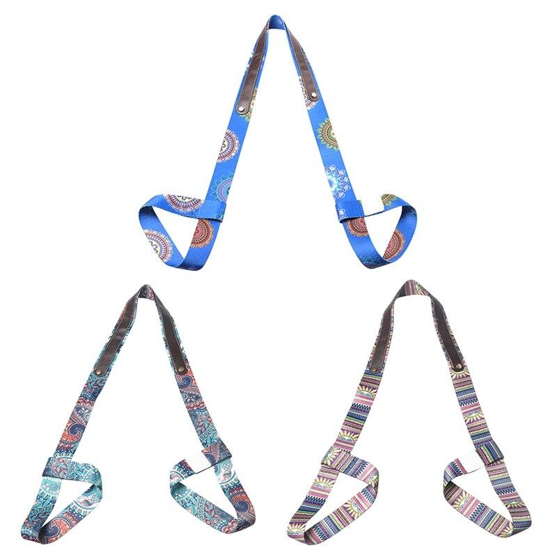Adjustable Sport Accessory Yoga Mat Belt Strap Belt Sports Sling Shoulder Carry Belt Exercise Stretch Fitness Elastic Yoga Belt