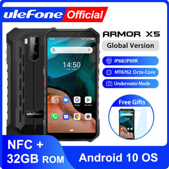 Teléfono Móvil Ulefone Armor X5 Android 10 robusto impermeable IP68 MT6762 3GB 32GB Octa core NFC 4G LTE